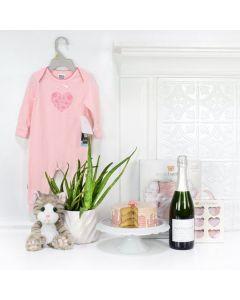 Baby Girl Birthday Cake Celebration, baby gift baskets, baby boy, baby gift, new parent, baby, champagne