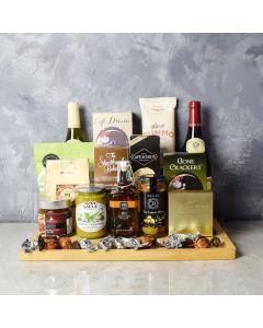 Corktown Wine Duo Gift Basket, gift baskets, gourmet gift baskets, wine gift baskets, wine & cheese gift baskets, pasta gift baskets