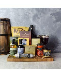 Etobicoke Wine & Cheese Gift Basket, gift baskets, wine gift baskets, gourmet gift baskets, snack gift baskets