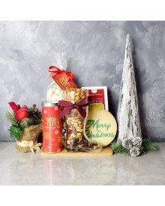Merry Christmas Tea & Snacks Basket