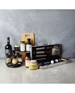 Zesty Barbeque Grill Gift Set with Wine, gift baskets, gourmet gifts, gifts