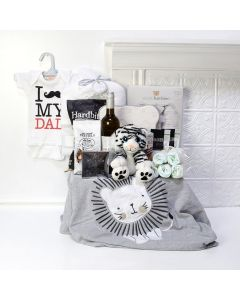 Deluxe Proud Papa Basket, baby gift baskets, baby boy, baby gift, new parent, baby, champagne