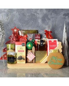 Sweet Holiday Sleigh Gift Basket