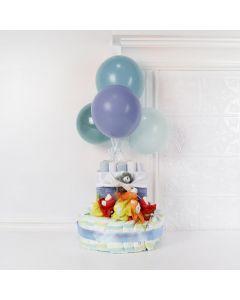 BALLOONS & WISHES BABY BOY GIFT SET, baby boy gift hamper, newborns, new parents