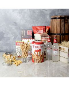 Beer & Liquor Snack Gift Crate, liquor gift baskets, gourmet gifts, gifts