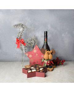 Hollyberry Christmas Liquor Set, liquor gift baskets, Christmas gift baskets, gourmet gift baskets