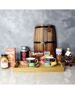 Maple, Coffee & Macaron Gift Set, gourmet gift baskets, gourmet gifts, gifts