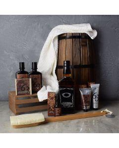 Spa Retreat & Liquor Gift Set For Him