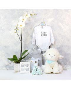 ADORABLE SHEEP UNISEX BABY GIFT SET, baby girl gift hamper, newborns, new parents