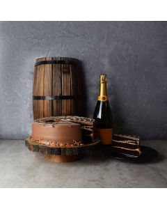 Halloween Cake & Champagne Basket