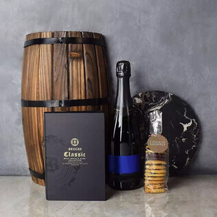 Gourmet Cookies & Champagne Gift Basket New Hampshire