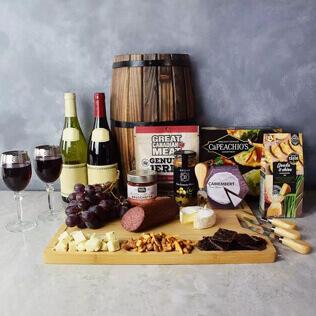 Grand Cheese& wine Gift Basket New Hampshire
