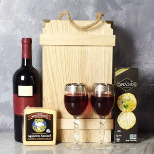 Classic Wine & Cheese Crate Manchester