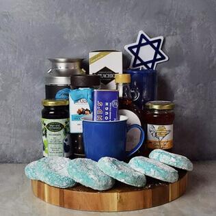 Kosher Treats & Coffee Hanukkah Basket New Hampshire