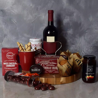 Muffin,Chocolate & Wine Delight Gift Set New Nampshire