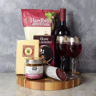 Savoury Treats Wine Basket New Hampshire
