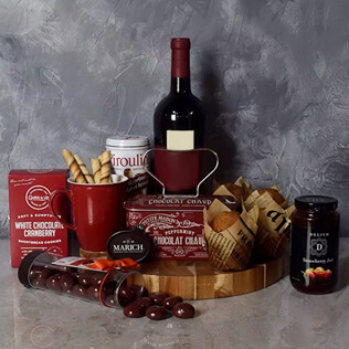 Muffin,Chocolate & Wine Delight Gift Set Manchester