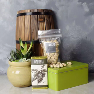 Snacks & Succulent Gift Set New Hampshire